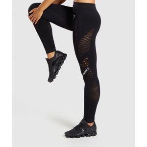 Gymshark Flawless Knit Tights Black Medium
